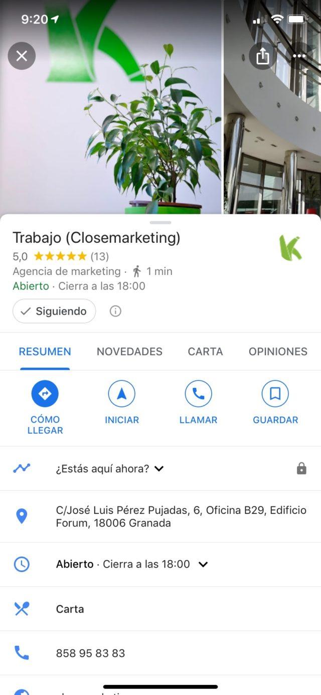 Boton Seguir Negocio En Google Maps