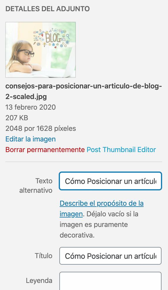 Como Posicionar Un Articulo De Blog Hecho En WordPress Con Gutenberg