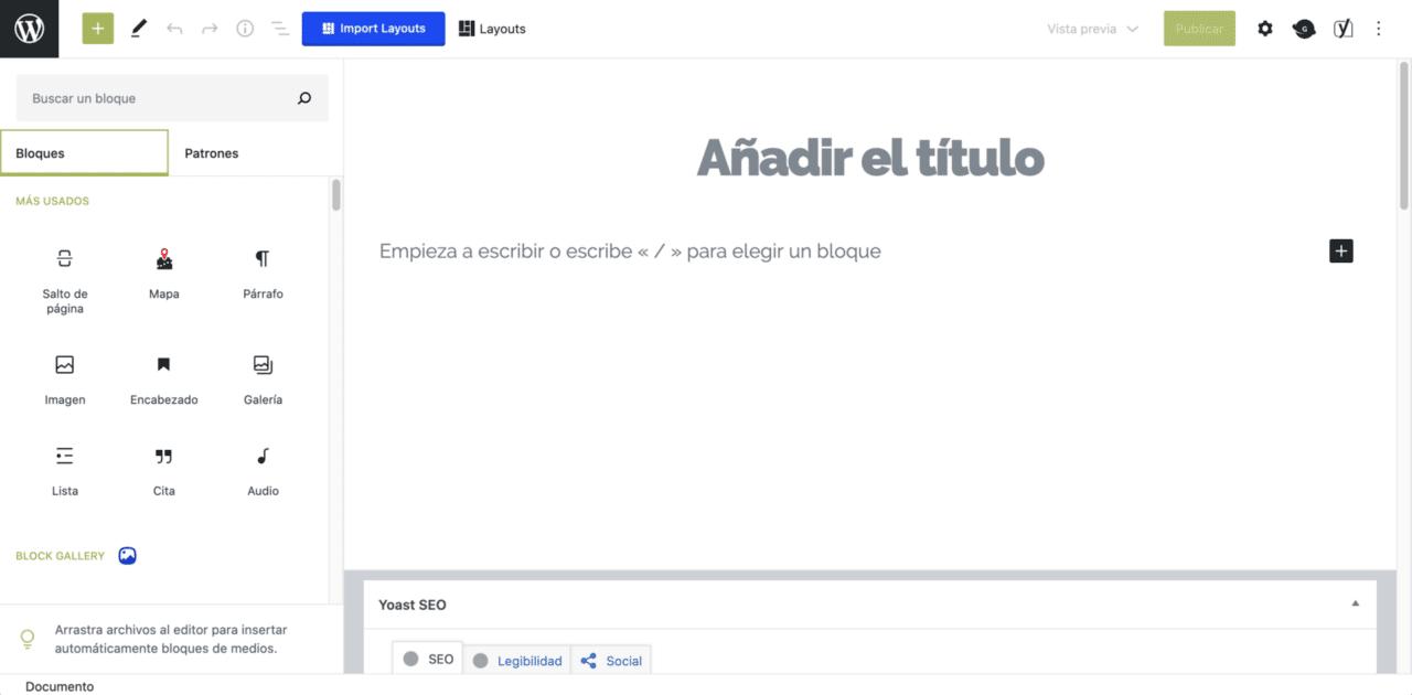 Migrar A WordPress Gutenberg Barra Herramientas